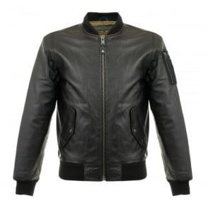 Schott LC 2305B Black Lambskin Leather Jacket LC2305B