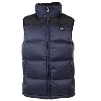 Schott NYC 2190V Navy Gilet Jacket