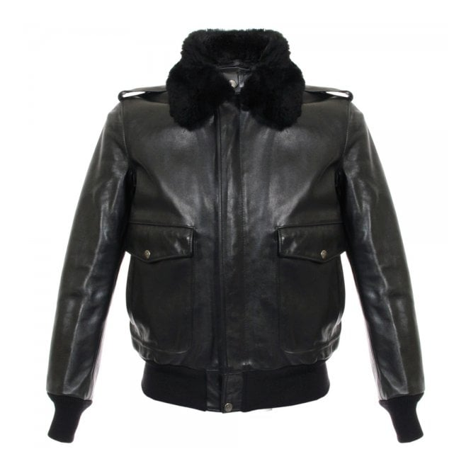 Schott NYC A-2 Cowhide Black Leather Jacket 184SM