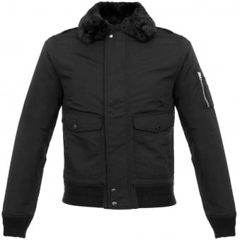 Schott NYC Air Black Bomber Flight Jacket