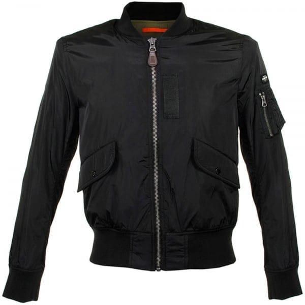 schott nyc london fairfield black bomber jacket. Black Bedroom Furniture Sets. Home Design Ideas