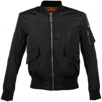 Schott NYC Fairfield Black Bomber Jacket PENS1606