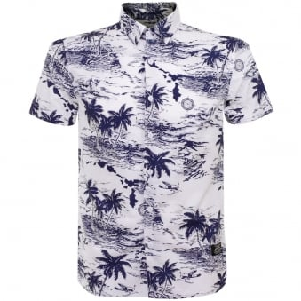 Schott NYC Shisla White Tropical Shirt OCCS1602