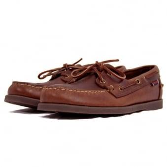 Sebago Docksides Brown Leather Boat Shoe B72743
