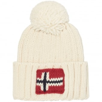 Bright White Semiury Beanie Hat