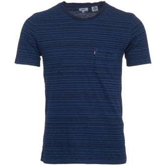 Dark Indigo Set-In Sunset Pocket T-Shirt