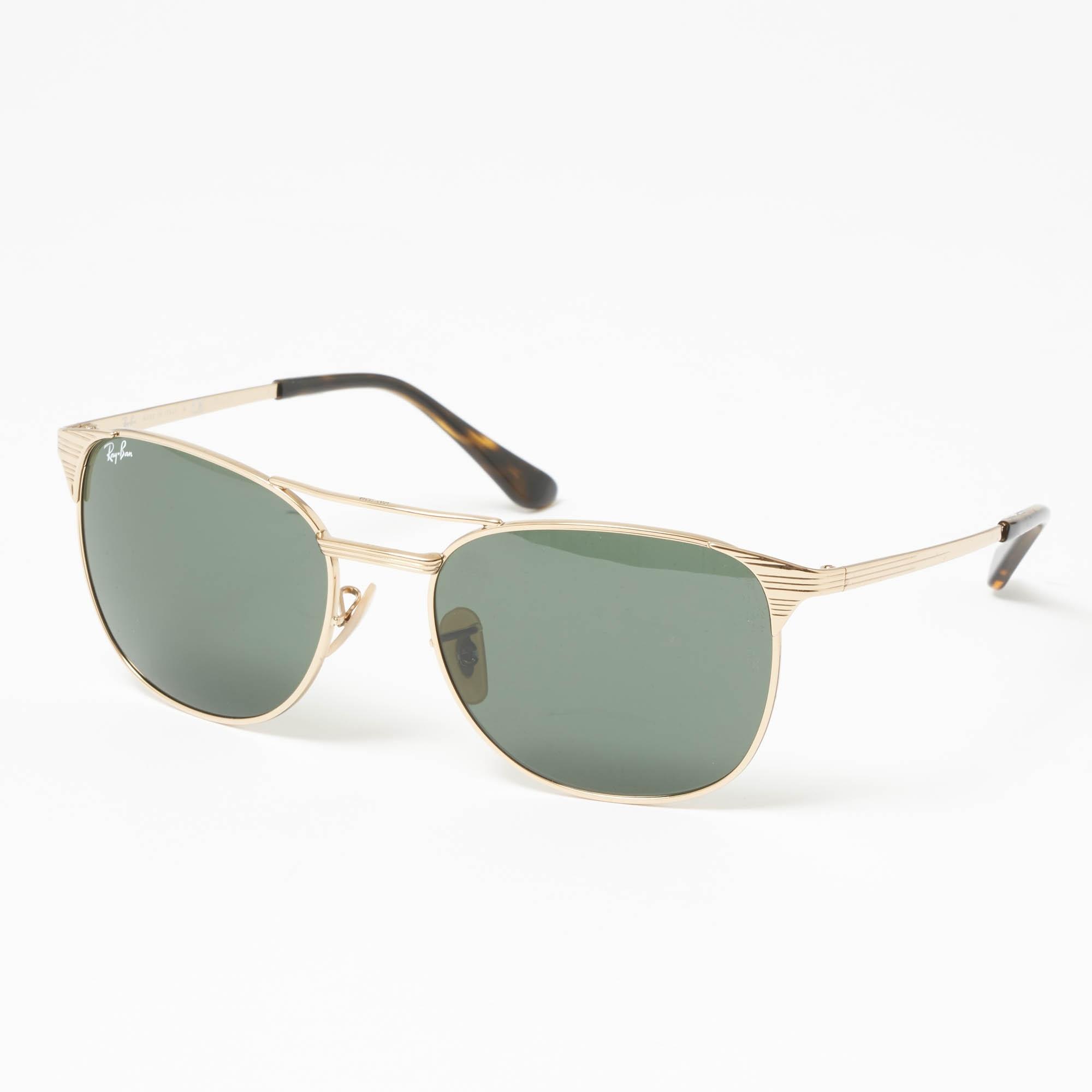 5d8ecb54b86 Gold Signet Sunglasses - Green Classic G-15 Lenses