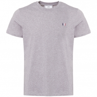 Small Tricolour Logo T-Shirt - Heather Grey