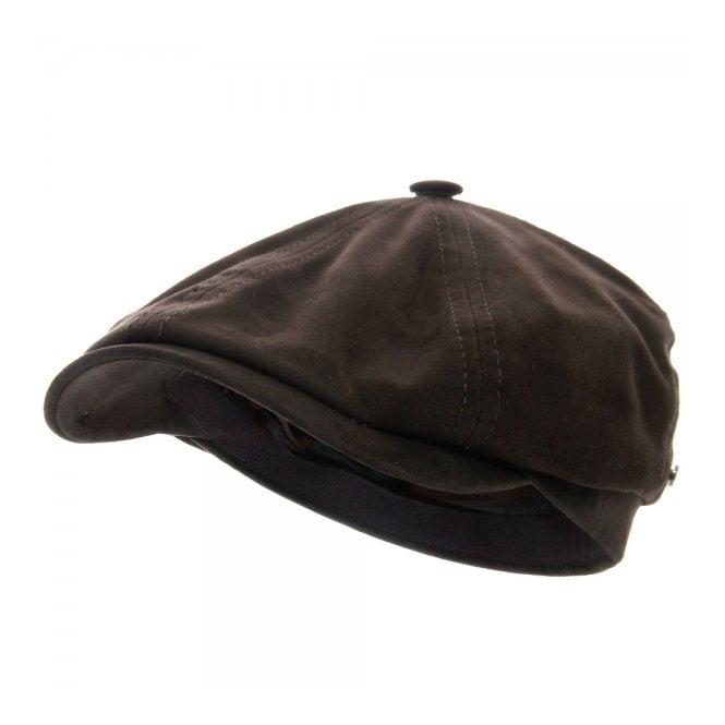 Stetson Headwear Stetson Brooklin Goat Suede Brown Newsboy Cap 6647401-6