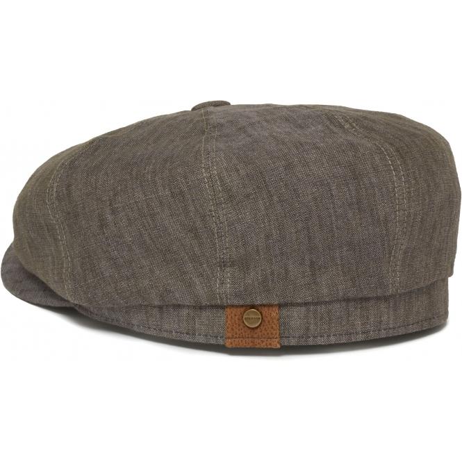 Stetson Grey Hatteras Linen Newsboy Cap  229e680cb363