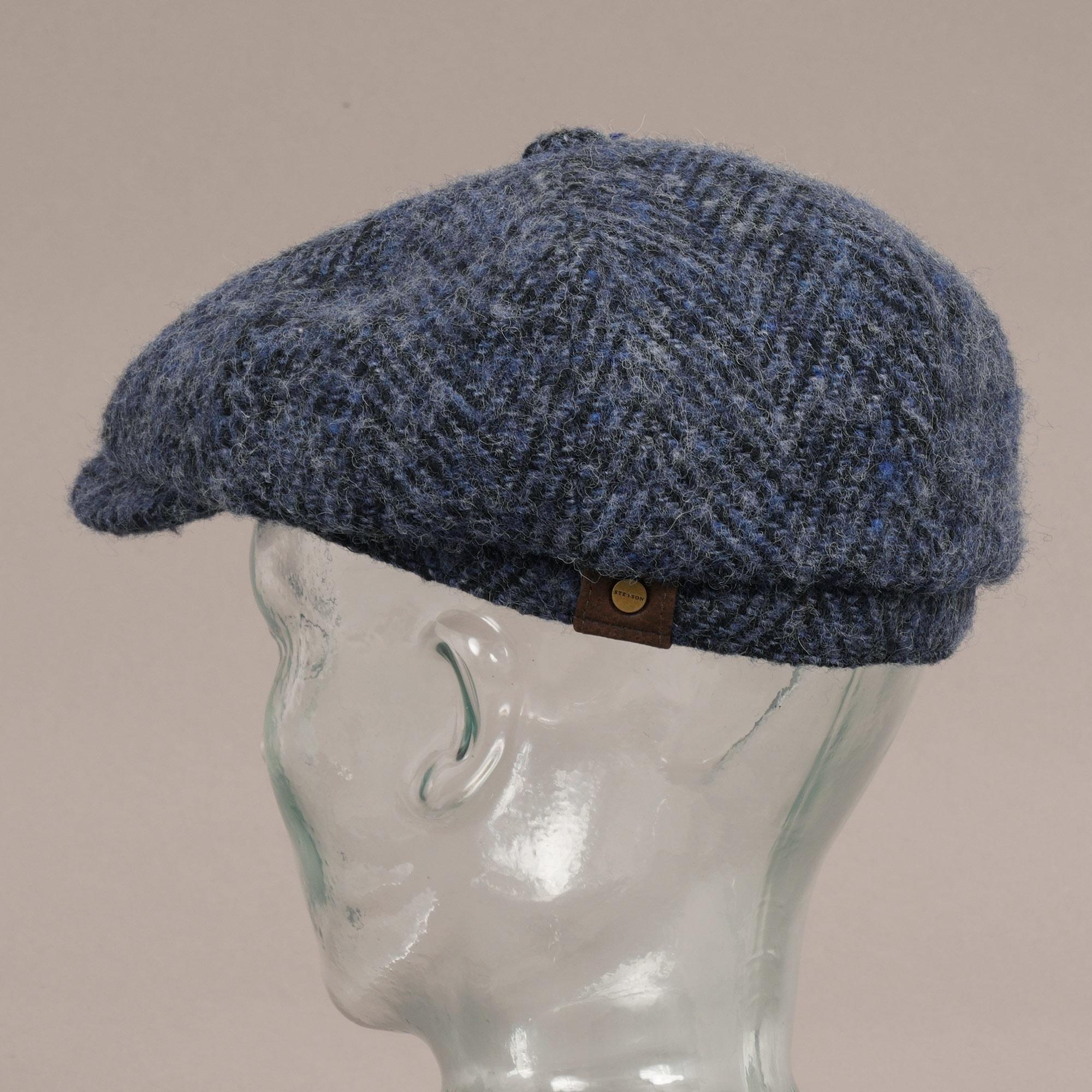 da8aa55c50a Stetson Stetson Hatteras Wool Bakerboy Cap (Blue) at Dandy Fellow