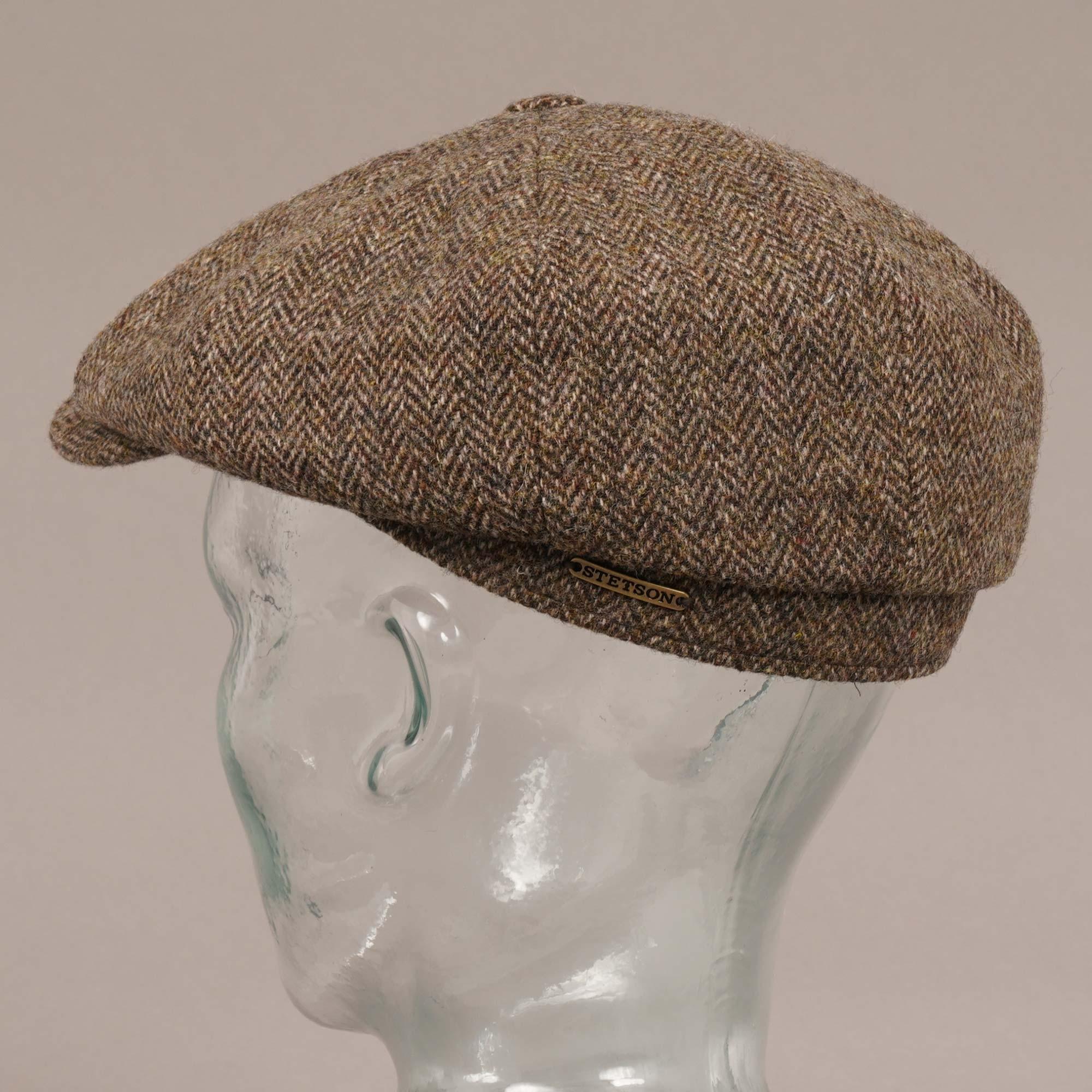 bd48e4d6 Stetson Hatteras Woolrich Herringbone Brown Newsboy Hat 6840514 365