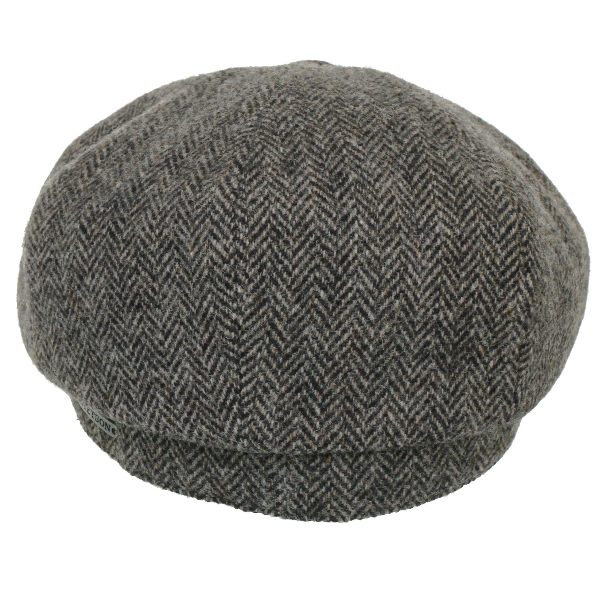 e1482ad1 Stetson Hatteras Woolrich Herringbone Grey Newsboy Hat 6840514 333