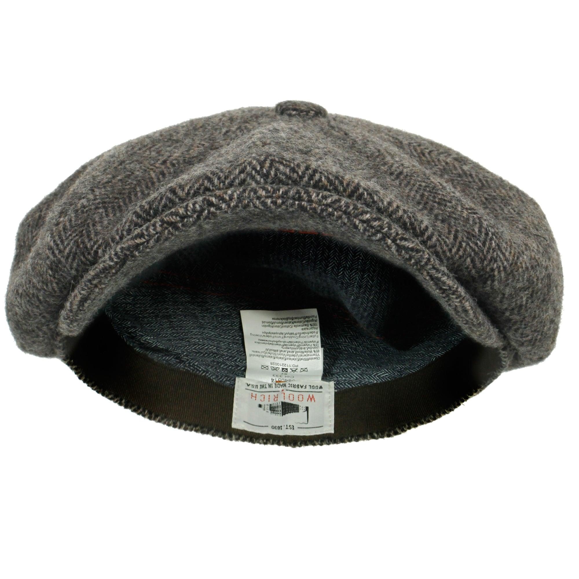 9500f44c Stetson Hatteras Woolrich Herringbone Grey Newsboy Hat 6840514 333
