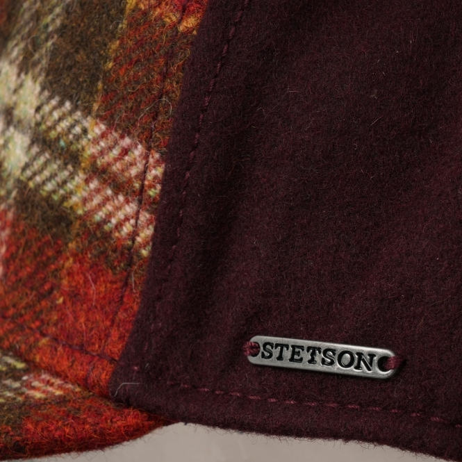 3fa27eacc69fa2 Stetson Virgin Wool Trucker Cap (Red Check) at Dandy Fellow