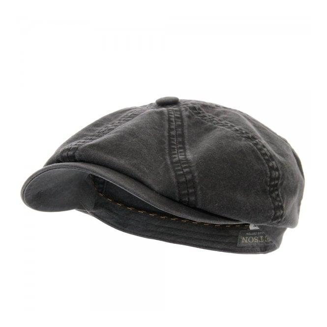Stetson Headwear Stetson Hatteras Delave Organic Cotton Black Hat 6841106-1