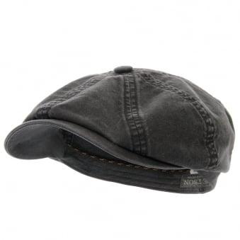 Stetson Hatteras Delave Organic Cotton Black Hat 6841106-1