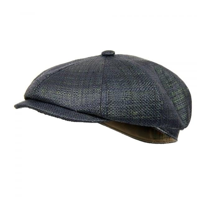 Stetson Headwear Stetson Hatteras Raffia Dark Green Flat Cap 6848504 21