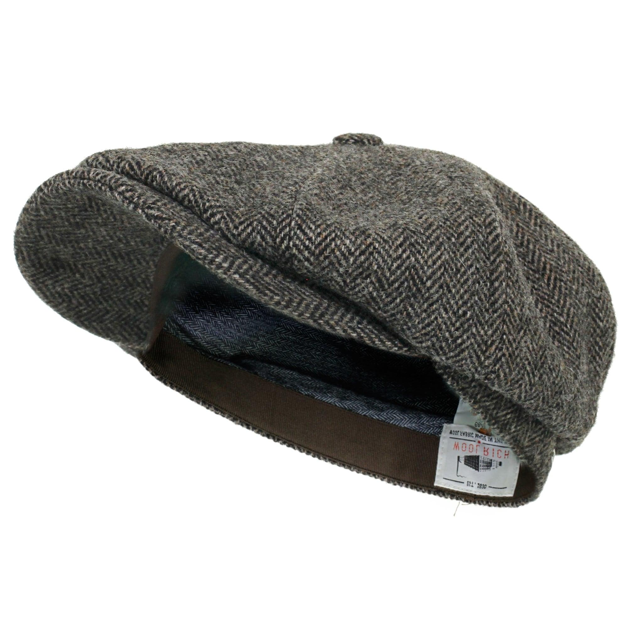 b0c7267a4 Stetson Headwear Stetson Hatteras Woolrich Herringbone Grey Newsboy Hat  6840514 333