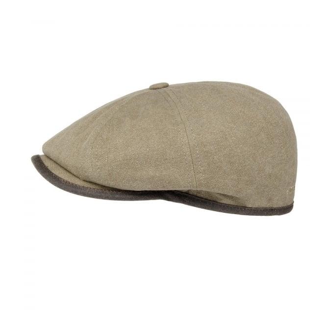 Stetson Headwear Stetson Seward Green Khaki Canvas Flat Cap 6841125