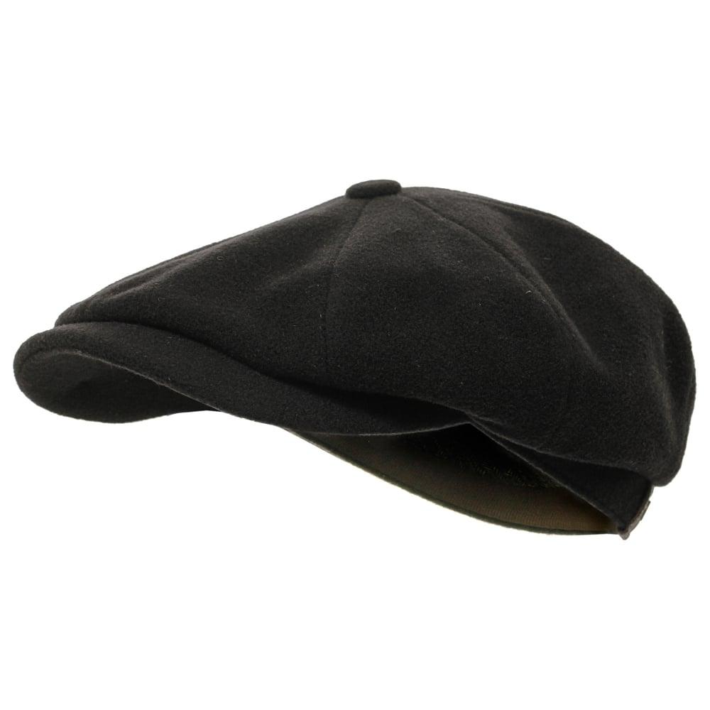 d154bc5e6fcb7 Stetson Wool Black Newsboy Cap 6840101 32