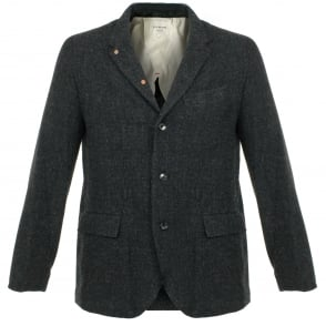 Still By Hand Wool Navy Blazer JK0363OS