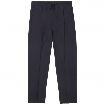 Navy Stretch Wool Trousers