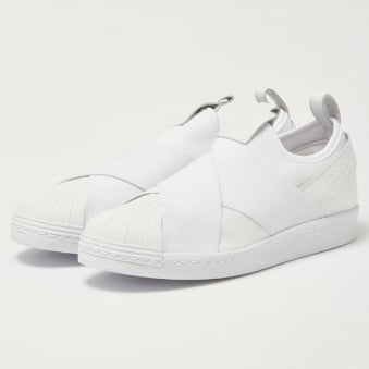 Adidas Superstar SlipOn White Sneakers BZ0111