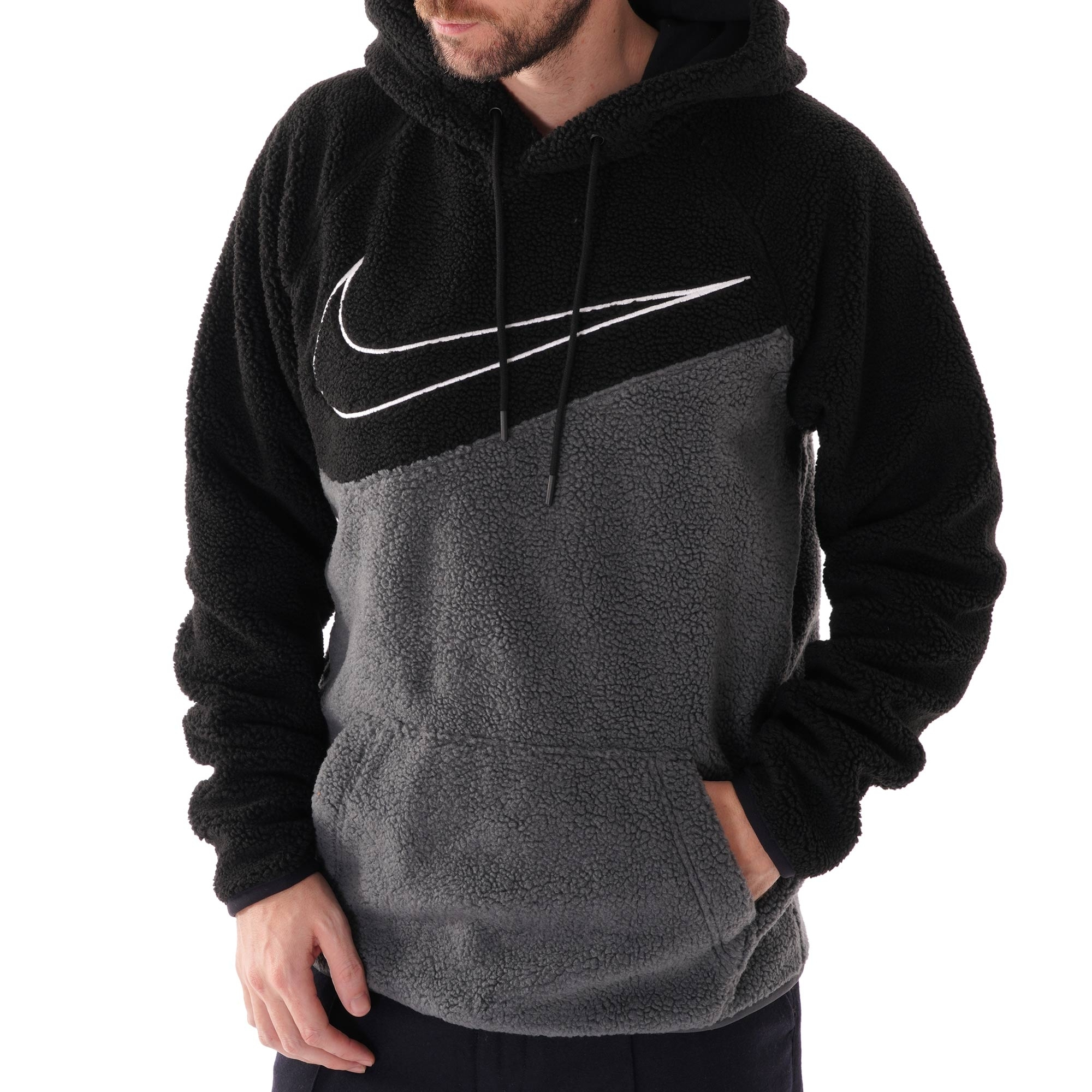 buy online purchase cheap classic shoes Nike Swoosh Fleece Hoodie (Black) BV5314-010