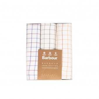 Barbour Tattersall Ecru Handkerchiefs MAC0010TA31