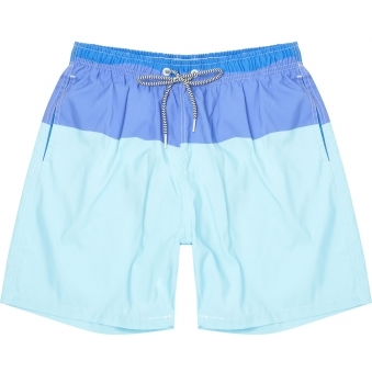 Blue Thick Stripe Swim Shorts