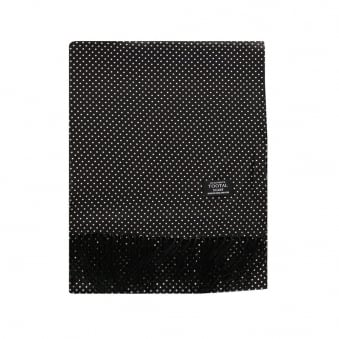 Tootal  Polka Dot Black Silk Scarf TL3805