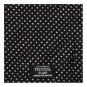 Tootal Vintage Tootal  Polka Dot Black Silk Scarf TL3805