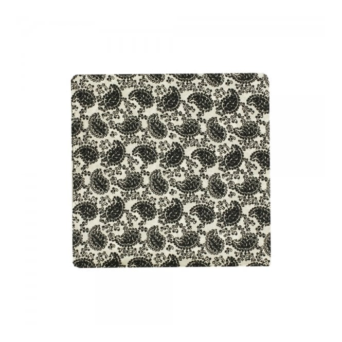 Tootal Vintage Paisley Ivory Pocket Square Handkerchief