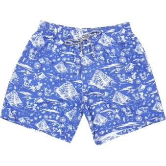Blue Tulum Swim Shorts