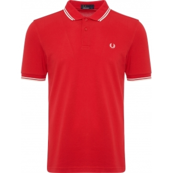 England Red Twin Tip Polo Shirt