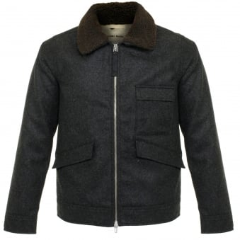 Universal Works Battle Charcoal Wool Jacket 15514
