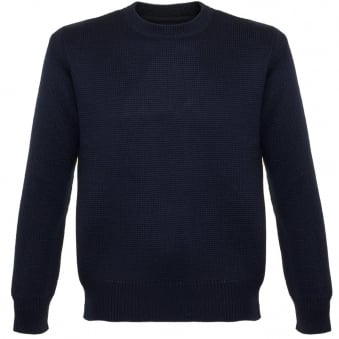 Universal Works Loose Fisherman Navy Jumper 15532