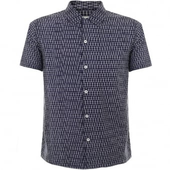 Universal Works Road Navy Shirt 14163