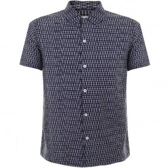 Universal Works Road Navy Shirt 14163
