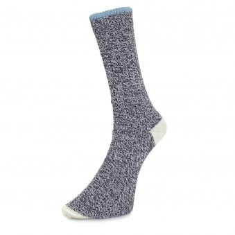 Universal Works Stratos Navy Socks 6503