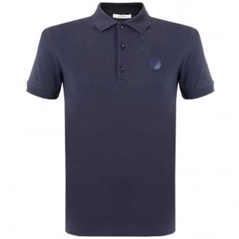 Versace Collection Navy Pique Polo Shirt V800543