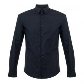 Versace Navy Dress Shirt V300198