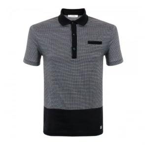 Versace Pin Square Black Polo Shirt V800529