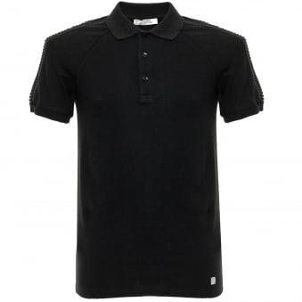Versace Pique Black Polo Shirt V800729