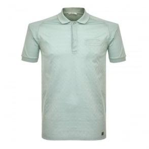 Versace Pocket Aqua Polo Shirt V800580