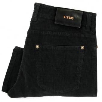 Versus Versace Black Corduroy Trousers BU40213