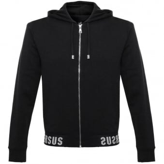 Versus Versace Fleece Black Zip Sweatshirt Jacket BU90255