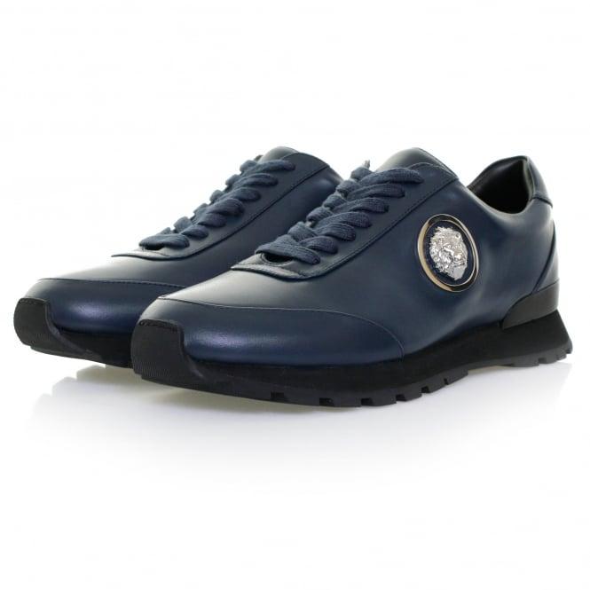 Versus Versace Lionshead Navy Leather Shoe FSU503C