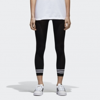 Womens Black 3-Stripes Tights